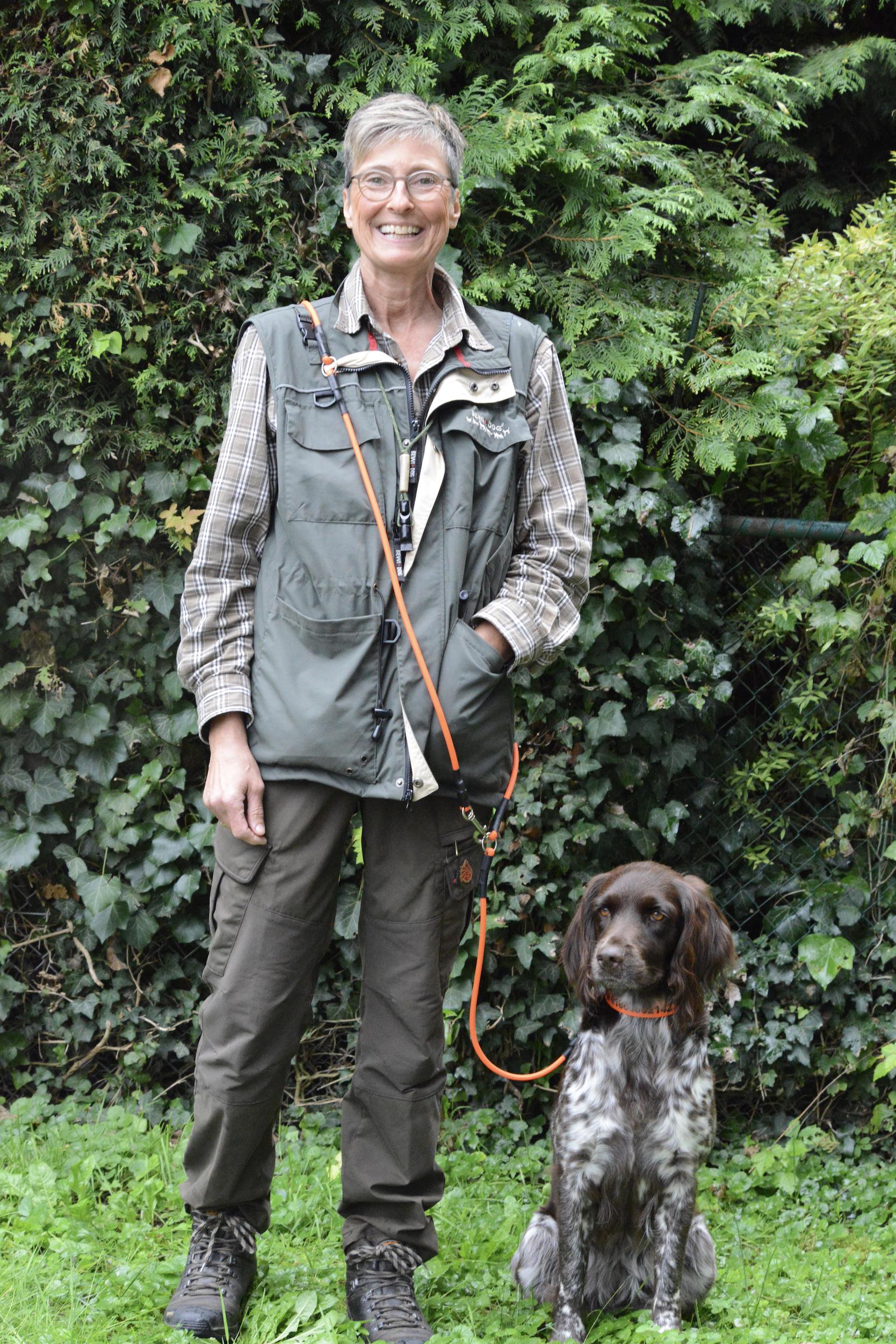 Yvonne Gregorius mit Maya vom Auenwald